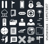 set of 25 icons such as street  ...