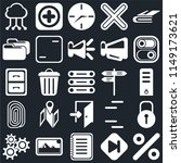 set of 25 icons such as percent ...