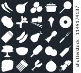 set of 25 icons such as kebab ...