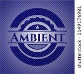 ambient badge with denim texture | Shutterstock .eps vector #1149176981