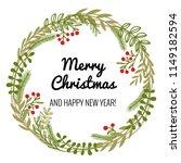 winter holiday wreath. a... | Shutterstock .eps vector #1149182594