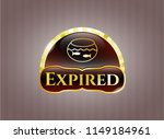 gold badge or emblem with... | Shutterstock .eps vector #1149184961