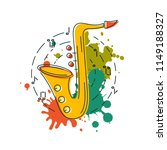 saxophone icon isolated on... | Shutterstock .eps vector #1149188327