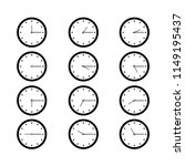flat clock icons isolated on... | Shutterstock .eps vector #1149195437