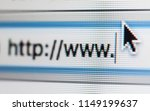 http   www and cursor on the... | Shutterstock . vector #1149199637