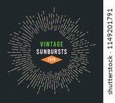 vintage sunburst design. vector ... | Shutterstock .eps vector #1149201791