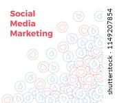 social media icons. social...   Shutterstock .eps vector #1149207854