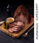 baked pork neck | Shutterstock . vector #1149213497