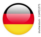 German Flag Button On White