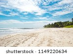beautiful paradise white sand... | Shutterstock . vector #1149220634