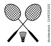 two badminton racquets or... | Shutterstock .eps vector #1149231101