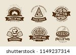 pizza  pizzeria logo or label.... | Shutterstock .eps vector #1149237314
