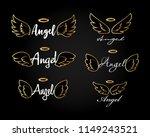 golden doodle flying angel... | Shutterstock .eps vector #1149243521