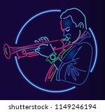 jazz trumpet player | Shutterstock . vector #1149246194