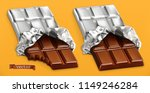 chocolate bars  3d realistic... | Shutterstock .eps vector #1149246284
