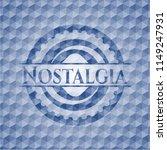 nostalgia blue emblem with... | Shutterstock .eps vector #1149247931