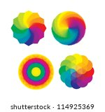 Set Of Color Wheels   Circles ...
