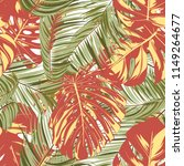 summer exotic floral tropical... | Shutterstock .eps vector #1149264677