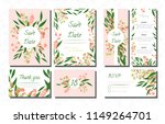wedding card templates set with ... | Shutterstock .eps vector #1149264701