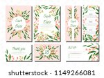 wedding card templates set with ... | Shutterstock .eps vector #1149266081