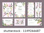 floral wedding invitation with... | Shutterstock .eps vector #1149266687