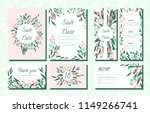 floral wedding invite with... | Shutterstock .eps vector #1149266741