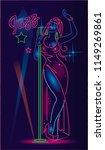 jazz singer neon sign | Shutterstock .eps vector #1149269861