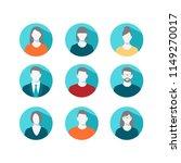 avatar profile icon set... | Shutterstock . vector #1149270017