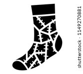 halloween sock icon. simple... | Shutterstock .eps vector #1149270881
