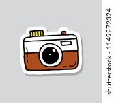 camera sticker doodle icon | Shutterstock .eps vector #1149272324