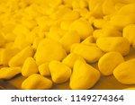 yellow decorative stones ... | Shutterstock . vector #1149274364
