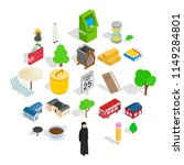 financial district icons set.... | Shutterstock .eps vector #1149284801