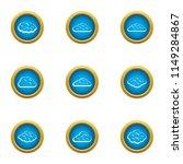 heavenly cloud icons set. flat... | Shutterstock .eps vector #1149284867