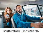 similing driver talking with... | Shutterstock . vector #1149286787