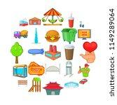 capital icons set. cartoon set...   Shutterstock .eps vector #1149289064