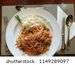 pad thai goong sod  padthai... | Shutterstock . vector #1149289097