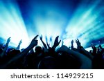 cheering crowd in front of... | Shutterstock . vector #114929215