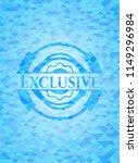 exclusive light blue emblem... | Shutterstock .eps vector #1149296984