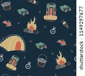 cartoon hiking outdoor gear... | Shutterstock .eps vector #1149297677