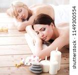 two young beautiful women... | Shutterstock . vector #1149300554