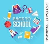 back to school. school... | Shutterstock .eps vector #1149311714