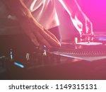 dj hands on professional music...   Shutterstock . vector #1149315131