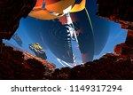 abstract geometric rock nature... | Shutterstock . vector #1149317294