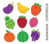 fruit vector collection design  ... | Shutterstock .eps vector #1149320114
