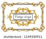 vintage decorative frame | Shutterstock . vector #1149330911