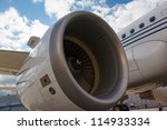 wing and jet engine airliner | Shutterstock . vector #114933334