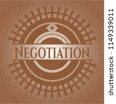 negotiation retro style wooden... | Shutterstock .eps vector #1149339011