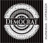 democrat silvery emblem or badge | Shutterstock .eps vector #1149363224