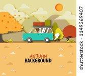 autumn season background with... | Shutterstock .eps vector #1149369407