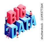 big data isometric 3d... | Shutterstock .eps vector #1149377264